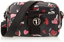 Trussardi Jeans 75B00512-9Y099998, Borsa a Tracolla Donna, Nero (Black Heart Print), 27x18x12 cm (W x H x L)