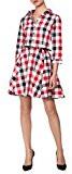 RED Isabel Donna Avena Plaid Cotton Shirtwaist Full Skirt Dress