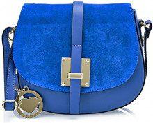 Chicca Borse Cbc34005tar, Borsa a Spalla Donna, Blu (Bluette), 7x19x27 cm (W x H x L)
