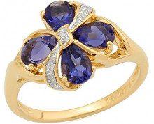 Ivy Gems Donna 925 argento Pera blu Iolite