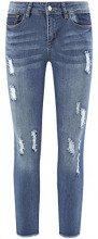 oodji Ultra Donna Jeans Skinny con Strappi, Blu, 26W / 32L (IT 40 / EU 36 / XS)