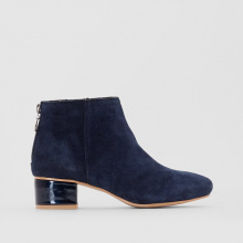 Boots pelle tacco vernice