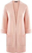 oodji Ultra Donna Cardigan Senza Chiusura con Tasche Applicate, Rosa, IT 42 / EU 38 / S