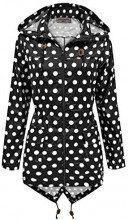 SS7 -  Giacca impermeabile  - Parka - Donna Black with White Spots 42