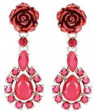Prada Rose Jewels clip-on earrings