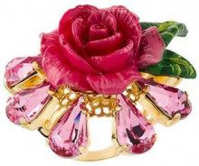 Dolce & Gabbana crystal rose ring