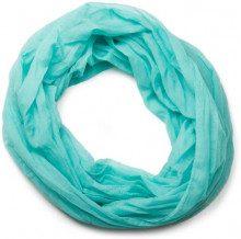 styleBREAKER sciarpa scaldacollo leggera a tinta unita, setosa, unisex 01016076, colore:Turchese