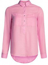 oodji Ultra Donna Camicia Larga in Cotone, Rosa, IT 40 / EU 36 / XS