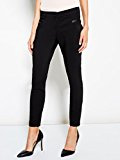 Motivi: pantalone donna skinny in cotone stretch e profili in similpelle