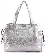 Shshoppm Shop2m - Borse a spalla Donna, Argento (Silber (Silber (Iron Silver))), 12.0x33.0x25.0 cm (B x H T)