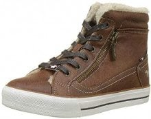 Mustang High Top, Sneaker a Collo Alto Donna, Marrone (Kastanie 301), 41 EU