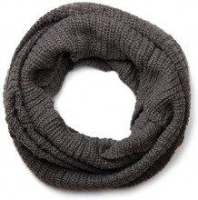 styleBREAKER sciarpa in maglia fine, sciarpa ad anello a tinta unita, sciarpa in maglia, unisex 01018112, colore:Grigio scuro
