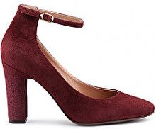 PUMP MARY-JANE IN SUEDE BORDEAUX