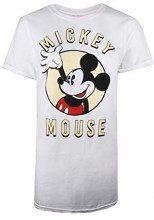 Disney Mickey Mouse Wave, T-Shirt Donna, Bianco White, 48 (Taglia Produttore: X-Large)