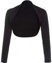 Maniche lunghe Bolero Moda Donna modale bolero scrollata di spalle nero taglia XL BP114-1