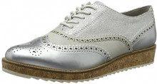 MARCO TOZZI 23726, Scarpe Stringate Brouge Donna, Argento (Silver Comb), 41 EU