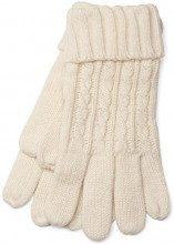 styleBREAKER caldi guanti con motivo intrecciato e doppio orlo, guanti invernali in maglia, donna 09010009, colore:Crema-Beige