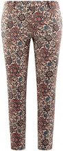 oodji Collection Donna Pantaloni in Cotone Stretti, Multicolore, IT 40 / EU 36 / XS