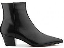 TRONCHETTO WESTERN-BOOT IN PELLE NERA