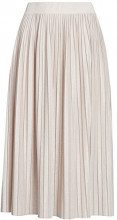 oodji Ultra Donna Gonna Midi Plissettata con Lurex, Beige, IT 46 / EU 42 / L