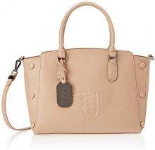 Trussardi Jeans Melissa Tote Medium Bag Covered Studs, Borsa Donna, (Beige On Tone), 21x24x13.5 cm (W x H x L)