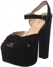 Jeffrey Campbell Suede, Sandali con Tacco Donna, Marrone (Dark Brown), 38 EU