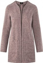 oodji Ultra Donna Cardigan in Tessuto Testurizzato con Tasche Applicate, Rosa, IT 40 / EU 36 / XS