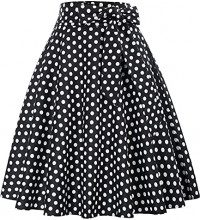 Gonna Donna Swing Knee-Kength A-Line per 50 s Event S Black (560-1)