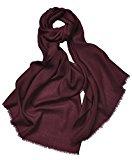 Prettystern- pashmina scialle 230cm lunghi 100% filato di lana 80 in bianco e nero di colore della pianura frange - selezione di colore
