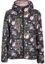 Piumino reversibile rosa con logo o con fantasia a fiori CIPRIA