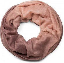 styleBREAKER raffinata sciarpa ad anello glitter con motivo colorato, sciarpa glitter, paillettes, sciarpa, foulard, donna 01017033, colore:Rosa antico-Beige