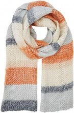 New Look Extra Long Knit 5989553, Sciarpa Donna, Arancione (Orange Pattern 80), Unica (Taglia Produttore: 99)