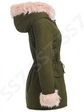 SS7 -  Cappotto  - Parka - Donna Khaki / Pale Pink 42