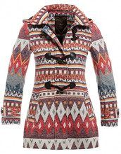 SS7 -  Cappotto  - Donna Creme/Rot 46