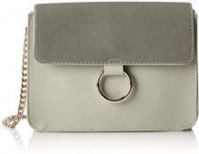 PIECES Pcgry Cross Body - Borse a tracolla Donna, Argento (Alloy), 6x15x23 cm (B x H T)