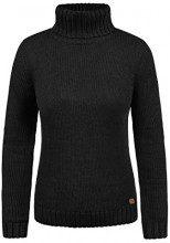 Desires Pia Maglione col Collo Alto Pullover in Maglia Dolcevita da Donna con Collo Alto, Taglia:XL, Colore:Black (9000)