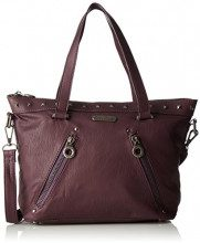 Little Marcel Do04 - Borse Tote Donna, Violet (Burgundy), 11x19x31 cm (W x H L)