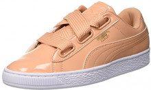 Puma Basket Heart Patent Wn's, Scarpe da Ginnastica Basse Donna, Arancione Dusty Coral, 41 EU