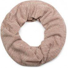 styleBREAKER sciarpa scaldacollo melange con motivo melange, sciarpa ad anello, foulard, unisex 01017067, colore:Antico Rosa a pois