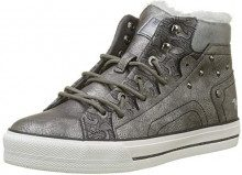 Mustang High Top, Sneaker a Collo Alto Donna, Argento (Silber 21), 36 EU