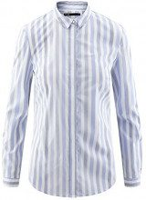 oodji Ultra Donna Camicia Slim Fit a Righe, Blu, IT 46 / EU 42 / L