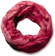 styleBREAKER sciarpa scaldacollo con motivo batik a fiamme, sciarpa ad anello, foulard, donna 01018041, colore:Rosso