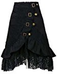 Charmian Women's Steampunk Goth Vintage Victorian Gypsy Hippie Lace Party Skirt
