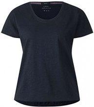 Cecil 312238, T-Shirt Donna, Blu (Deep Blue 10128), S