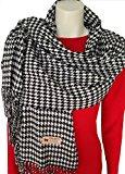 RW Fashion, delle donne Sciarpa - scialli,sciarpa a scacchi, sciarpa di cachemire, classico Cashmere & viscosa, - pied de poule - STK502