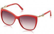 Swarovski SK0104F-5766F, Occhiali da Sole Donna, Rosso (Shiny Red/Gradient Brown), 57