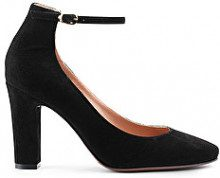 PUMP MARY-JANE IN SUEDE NERO