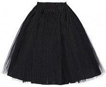 Vintage 50 di Rockabilly pannello esterno di Tulle Petticoat nero delle donne Taglia S BP56-1