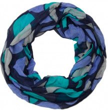 styleBREAKER sciarpa scaldacollo leggera retro a pois 01014040, colore:Turchese-Blu