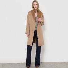 Cappotto con cintura bicolore, 70% lana